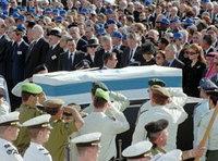 Beerdigung Jitzhak Rabins; Foto: AP