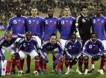Französische Fußball-Nationalmannschaft 2008; Foto: AP