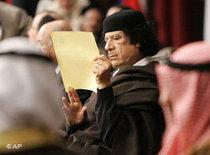 Libyens Staatschef Gaddafi; Foto: AP