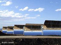 Parabol-Spiegel des Projektes Andasol in Südspanien; Foto: DW/Leidel