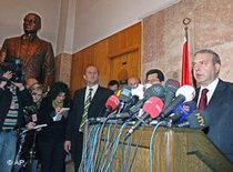 Türkisches Verfassungsgericht Pressekonferenz; Foto: AP