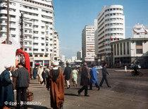 Moderne Hochhäuser in der Hafenstadt Casablanca; Foto: dpa