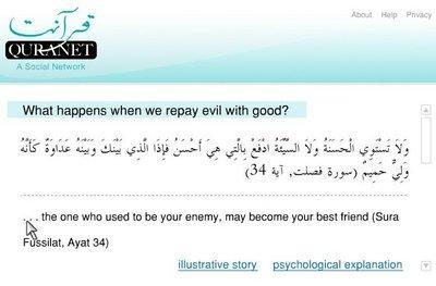 Screenshot Quranet; Foto: Quranet