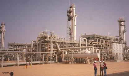 Erdgasanlage in Algerien; Foto: AP
