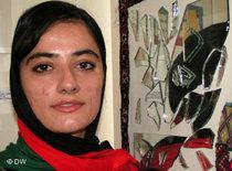 Afghanische Künstlerin Sheenkai; Foto: DW