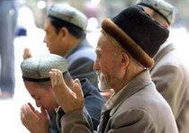 Uiguren beim Gebet; Foto: AP