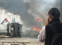 James Nachtwey im Gaza-Streifen; Foto: Christian Frei