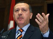 Der türkische Ministerpräsident Erdoğan; Foto: AP