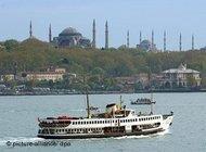 Blick über den Bosporus; Foto: dpa