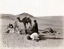 Wüstenszene - Historische Fotografie von Felix Bonfils; Foto: Sammlung Thomas Walther