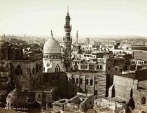 Stadtansicht von Kairo von Pascal Sébah; Foto: Sammlung Thomas Whalter
