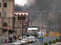 Anschlag auf US-Botschaft im Jemen im September 2008; Foto: AP