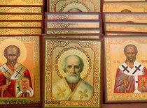 Ikonen des Heiligen Nikolaus in Anatolien; Foto: picture-alliance/Godong