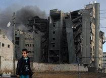 Ein zerstörtes Gebäude der Hamas im Gazastreifen; Foto: AP