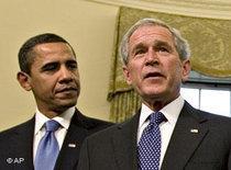 George W. Bush und Barack Obama; Foto: AP