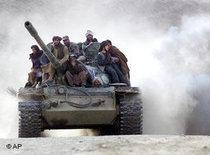 Talibankämpfer im Norden Afghanistans; Foto: AP