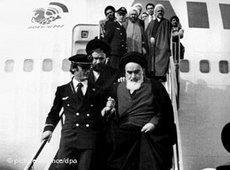 Khomeinis Rückkehr aus dem französischen Exil am 1. Februar 1979
