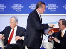 Erdogan verlässt das Weltwirtschaftsforum; Foto: AP