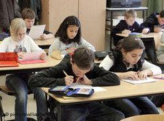 Schüler mit Migrationshintergrund in Leipziger Schule