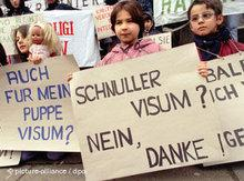 Kinder-Demonstration gegen Visumspflicht in Hamburg; Foto: dpa