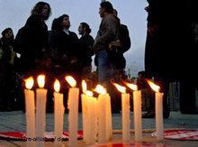 Mahnwache für die Toten von Malatya in Istanbul; Foto: dpa