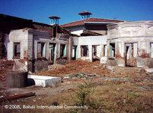 Zerstörtes Bahai-Heiligtum in Babol, Iran; Foto: Bahai International Community