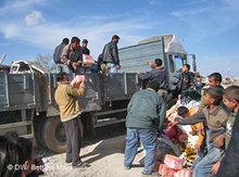 Hilfsgüterlieferung in Jabaliya; Foto: DW