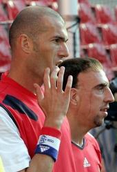 Franck Ribéry und Zinédine Zidane; Foto: AP