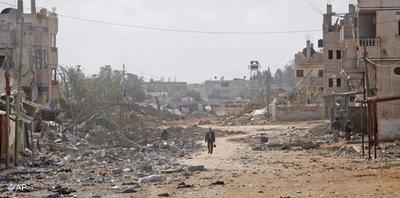 Rafah, Grenzübergang zum Gazastreifen im Januar 2009; Foto: AP