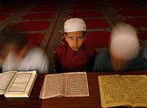Boys in the Blue Mosque in Kabul, Afghanistan (photo: AP)