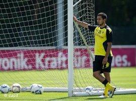 Ilkay Gündogan nach einem BVB-Spiel; Foto: dapd