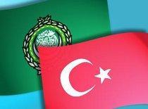 Flaggen Türkei und Arabische Liga