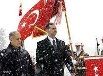 Der syrische Präsident Assad mit seinem türkischen Amtskollegen Sezer; Foto: AP