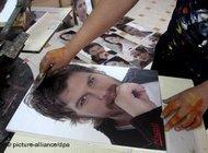 Fanposter des Schauspielers Kivan Tatliu; Bild: dpa