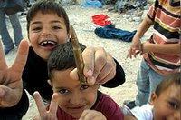 Kinder in Jenin nach der israelischen Invasion im April 2002; © http://www.arna.info/Arna/