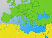 Karte Grafik Mittelmeer; Foto: DW