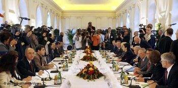 Runder Tisch bei der Deutschen Islamkonferenz; Foto: dpa