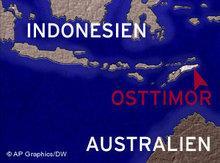 Übersichtskarte Ost-Timor; Foto: AP/DW