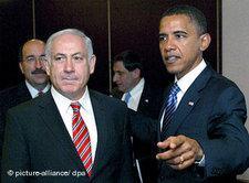 Benjamin Netanjahu und Barack Obama in Jerusalem; Foto: dpa
