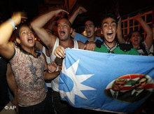 Pro-sunnitische Wahlanhänger in Beirut; Foto: AP