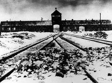Aussenansicht des Konzentrationslagers Auschwitz, aufgenommen Ende Januar 1945; Foto: AP