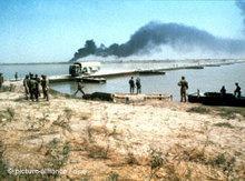 Irakischer Angriff auf den iranischen Ölhafen Khorramshah 1980; Foto: dpa