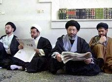 Schiitische Gelehrte in Ghom; Foto: AP