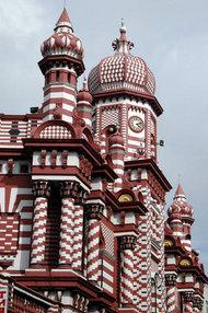 Jami ul Alfar-Moschee in Colombo; Foto: Wikimedia Commons