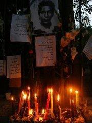 Trauerveranstaltung für die bei den Unruhen getöteten Demonstranten; Foto: AP