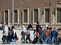 Kinder in Kairos Altstadt; Foto: dpa