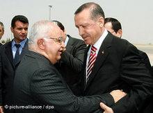 Massud Barzani (links) und Recep Tayyip Erdon; Foto: dpa