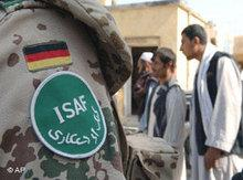 ISAF Soldat der deutschen Bundeswehr in Afghanistan; Foto: AP