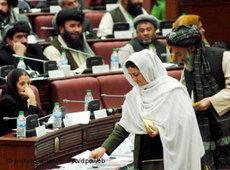 Abstimmung im afghanischen Parlament; Foto: dpa