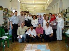 Die Teilnehmer und Organisatoren des Verlegerworkshops im Goethe-Institut Kairo; Foto: Axel von Ernst